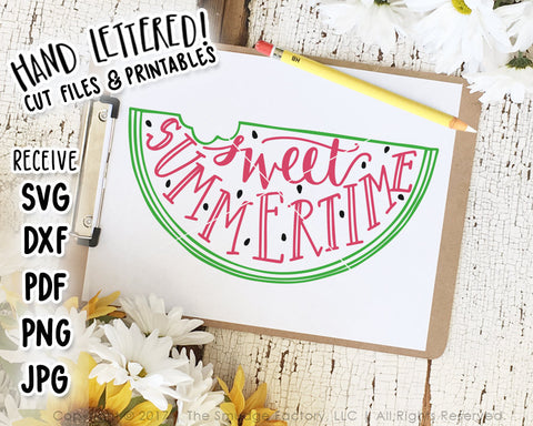 Sweet Summertime SVG & Printable