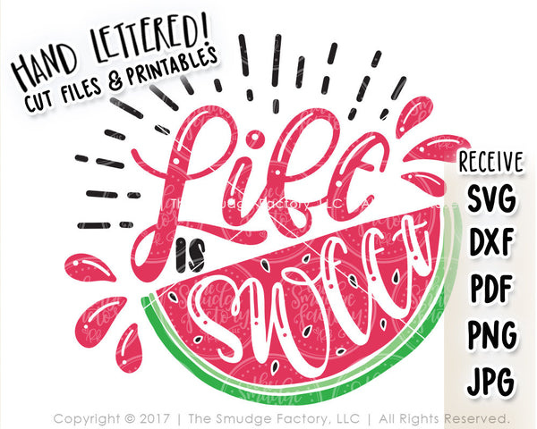 Life Is Sweet SVG & Printable