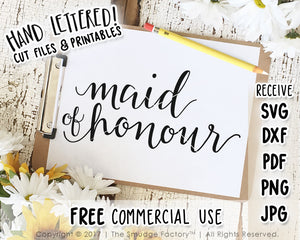 Maid Of Honour SVG & Printable