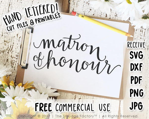 Matron Of Honour SVG & Printable