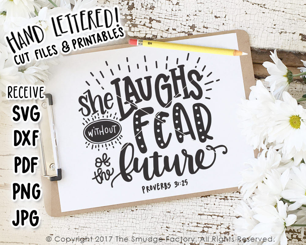 She Laughs Without Fear SVG & Printable