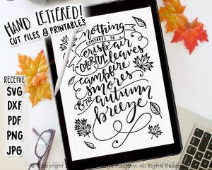The Autumn Breeze SVG & Printable