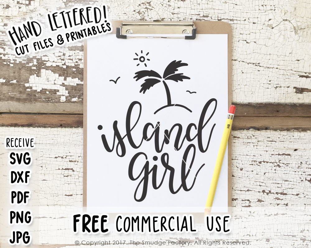 Island Girl SVG & Printable