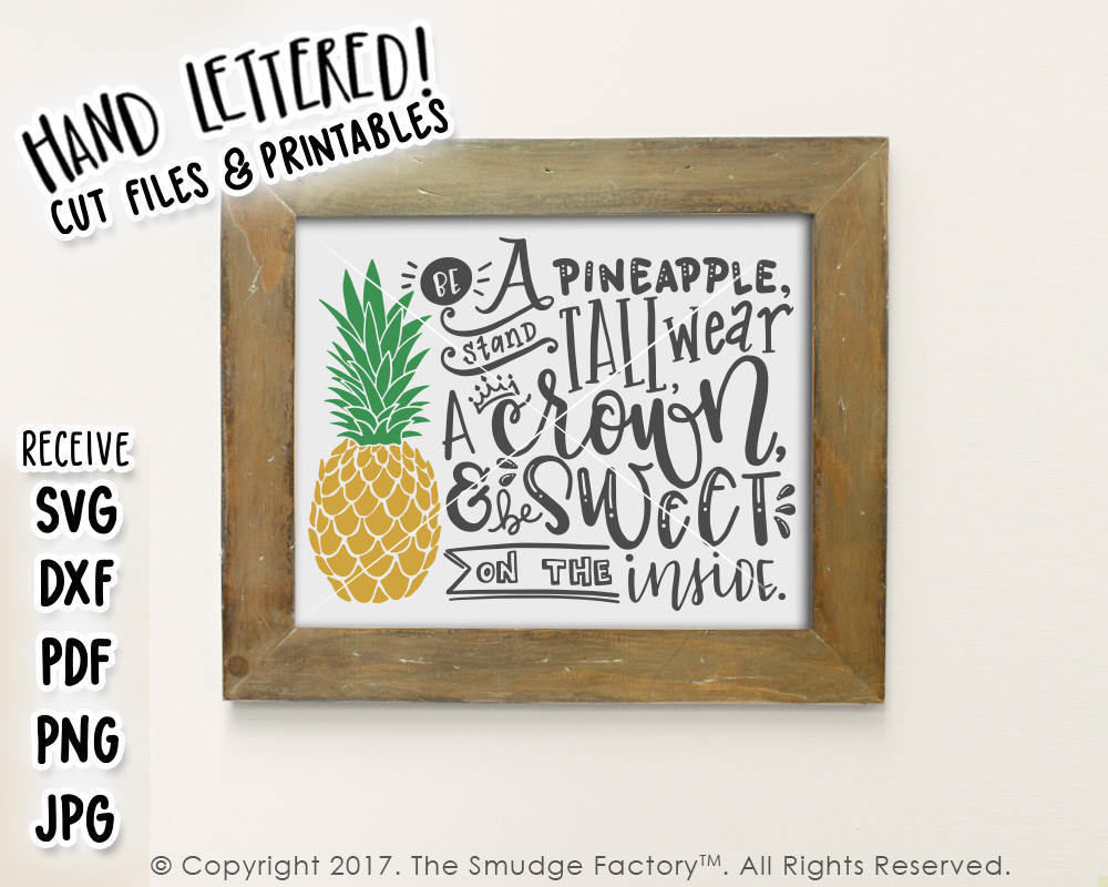Be A Pineapple SVG & Printable