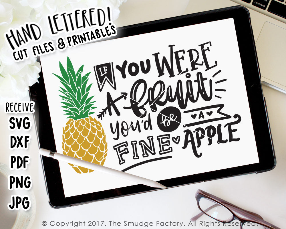 Fine Apple SVG & Printable
