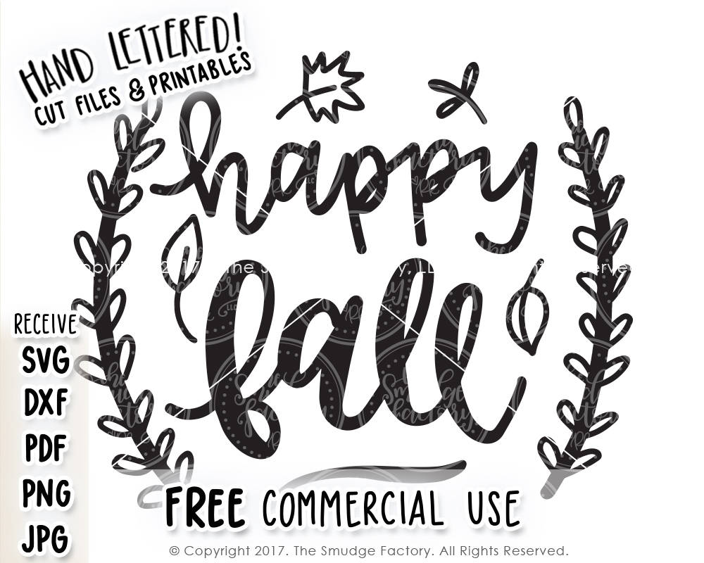 Happy Fall Svg Printable The Smudge Factory