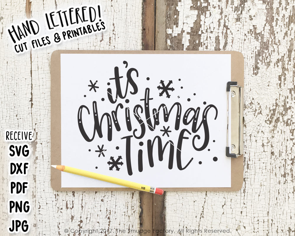It's Christmas Time SVG & Printable