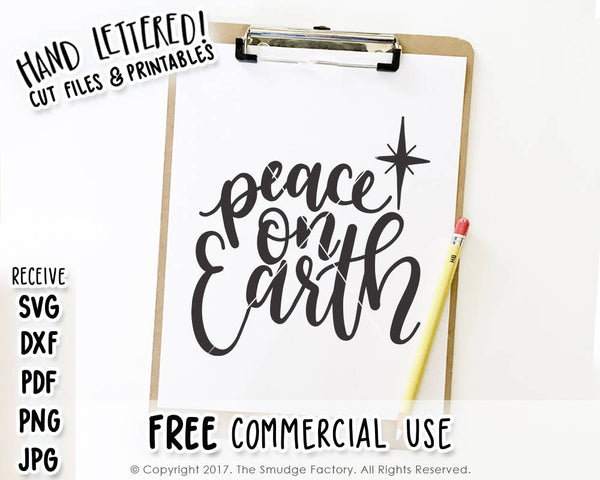 Peace on Earth SVG & Printable