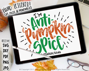Pumpkin Spice SVG & Printable