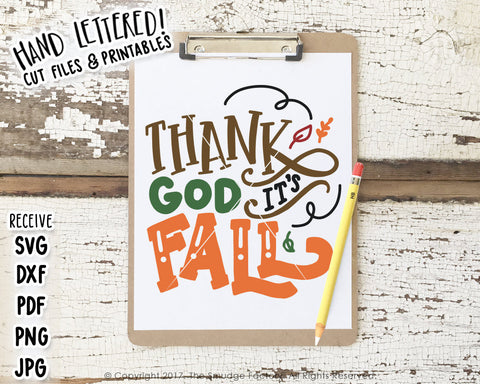 Thank God It's Fall SVG & Printable