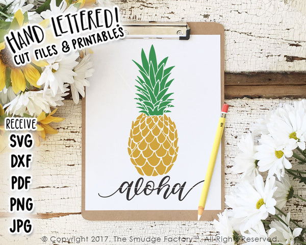 Aloha pineapple SVG & Printable