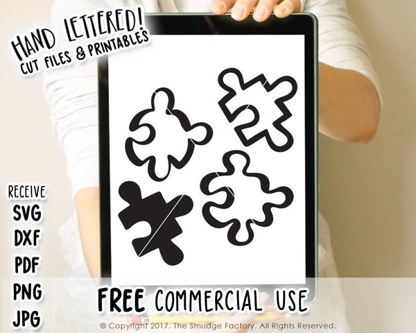Puzzle SVG & Printable