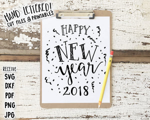 Happy New Year SVG & Printable