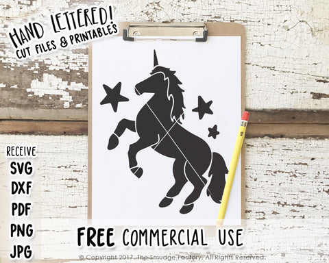 Unicorn SVG & Printable