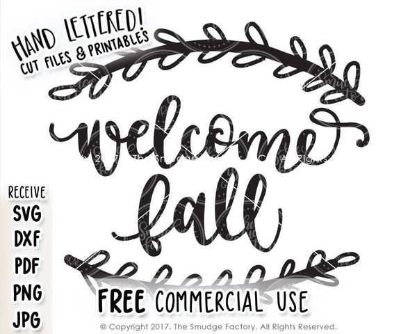Welcome Fall SVG & Printable
