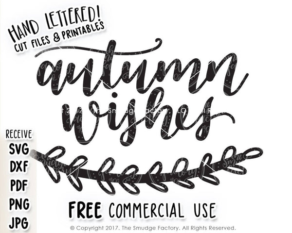 Autumn Wishes SVG & Printable
