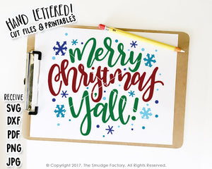Merry Christmas Y'all SVG & Printable