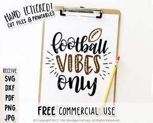 Football Vibes SVG & Printable