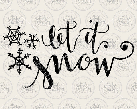Let It Snow SVG & Printable