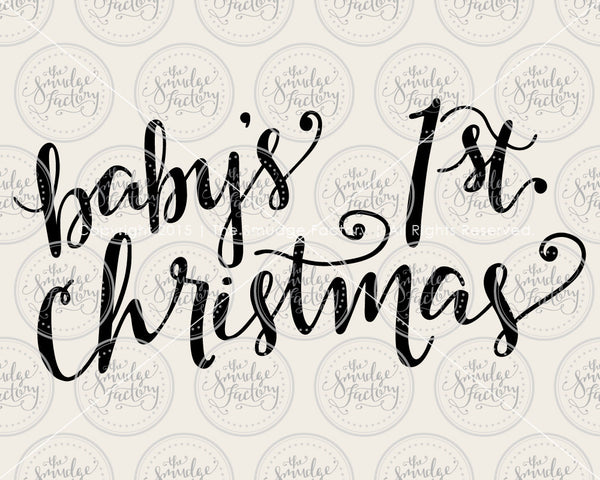 Baby's 1st Christmas SVG & Printable