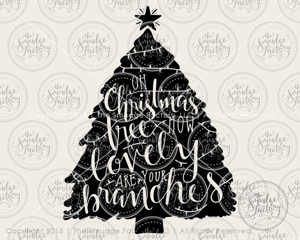 Oh Christmas Tree Decoration SVG & Printable