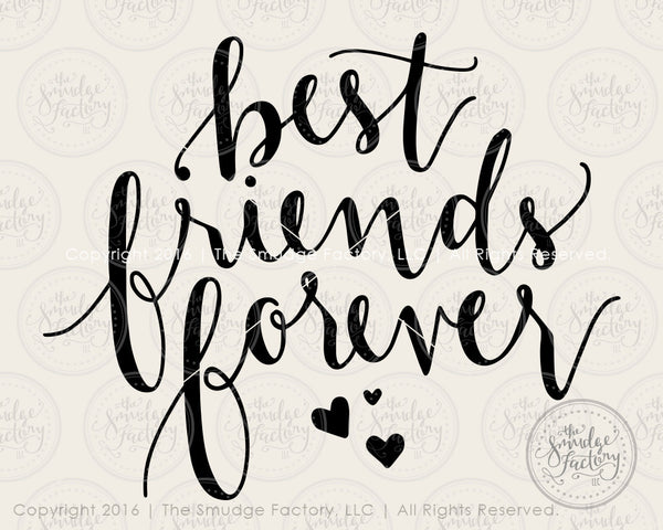 Best Friends Forever SVG & Printable