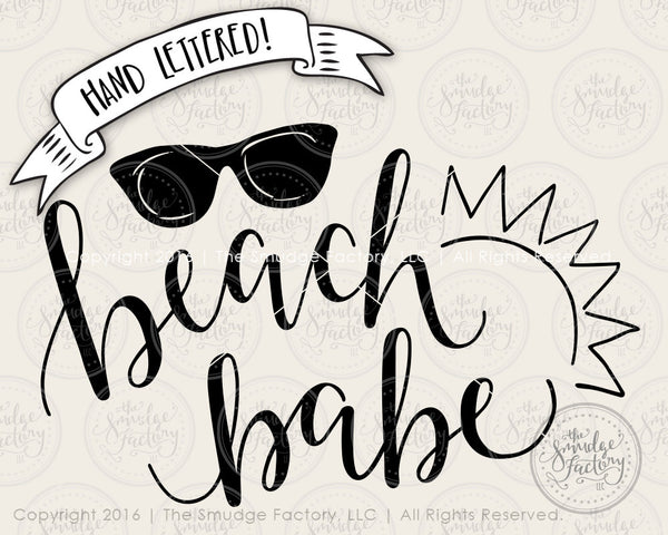 Beach Babe SVG & Printable