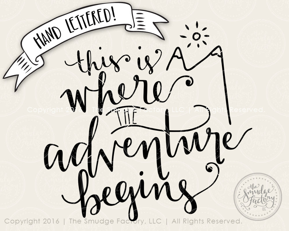 This is Where the Adventure Begins SVG & Printable