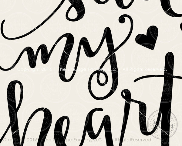 Be Still My Heart SVG & Printable