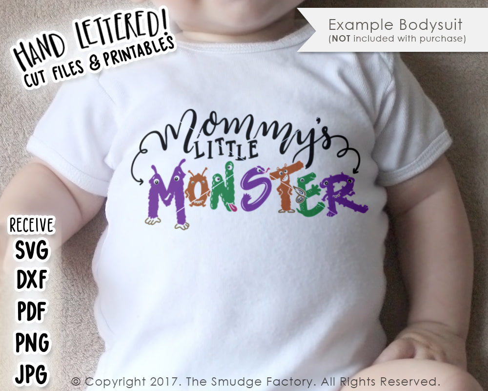 Mommy S Little Monster Svg Printable The Smudge Factory