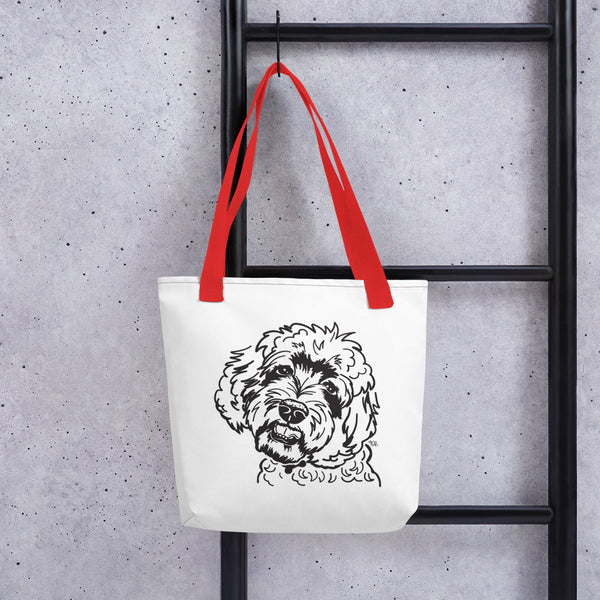 Labradoodle Graphic Tote Bag