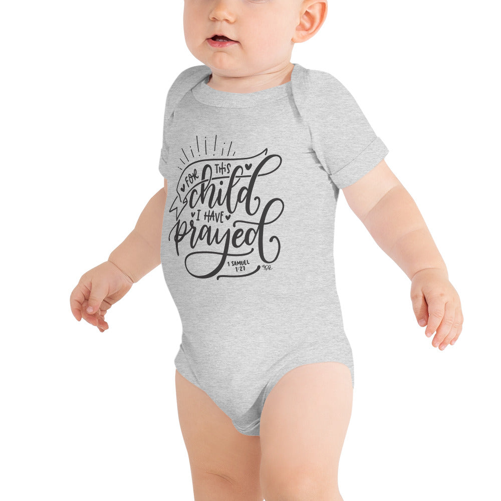 For This Child I Have Prayed Bodysuit