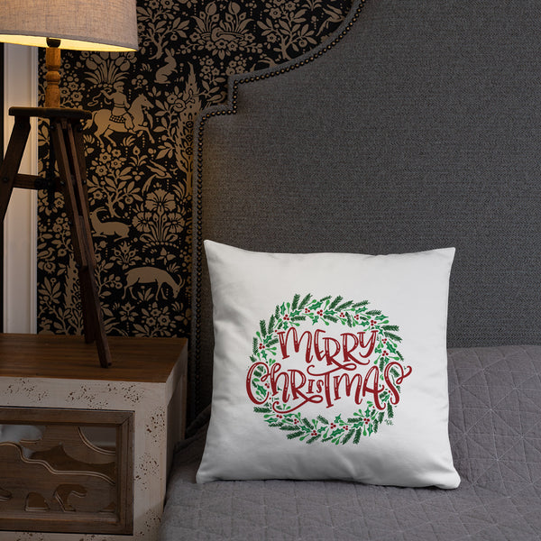 Give Thanks / Merry Christmas Reversible Pillow