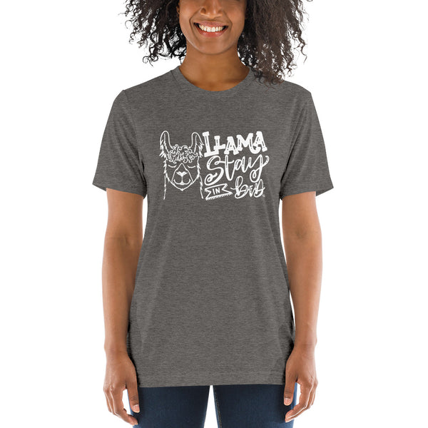 Llama Stay In Bed Tee