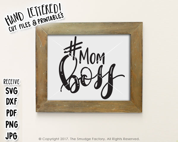 Mom Boss SVG & Printable