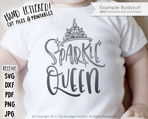 Sparkle Queen SVG & Printable