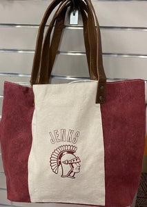 Jenks Two Tone Canvas Tote