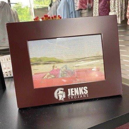 Jenks Trojans Picture Frame