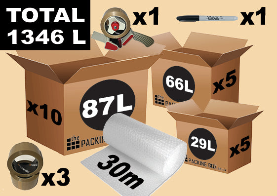3 4 Bedroom Moving House Kit The Packing Box