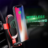 chargeur voiture wireless 10W - QI charge ultra rapide par induction pour iphone Samsung...