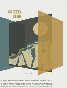 GRIZZLY BEAR 2012 US Tour Poster