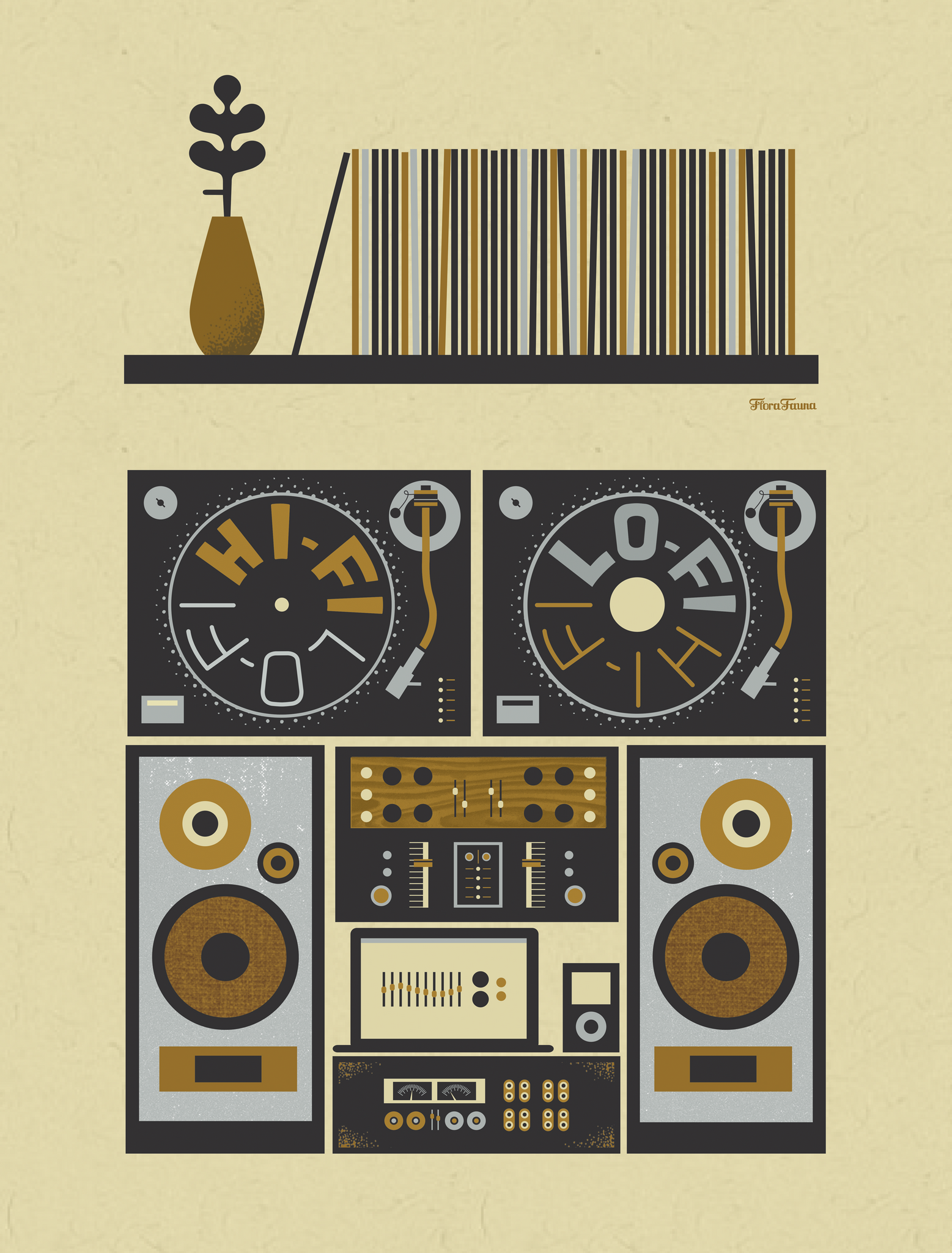 HIGH FIDELITY HOME Art Print