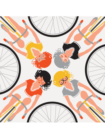 GIRLS ON CYCLES 2009 Art Crank Print