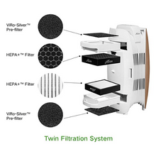 Hunter HEPA+ Air Purifier with Viro-Silver Technology HT1715 (rosegold/white)