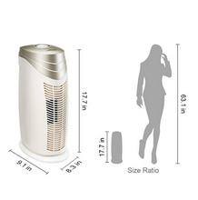 Hunter HEPA+ Air Purifier with Viro-Silver Technology for medium-sized Rooms HT1702 (champagne/white)