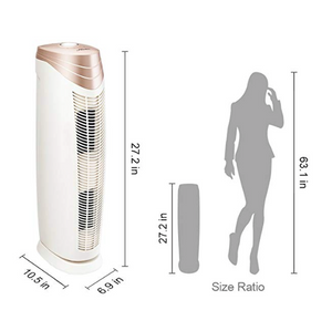 Hunter HEPA+ Air Purifier with Viro-Silver Technology for Large Rooms HT1701 (rosegold/white)