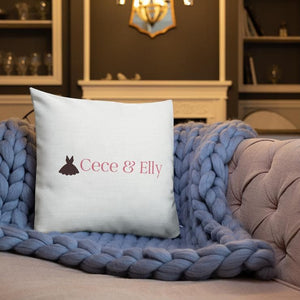 Cece & Elly Premium Pillow- with pink logo