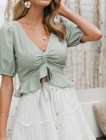 The Rochelle Top in Mint