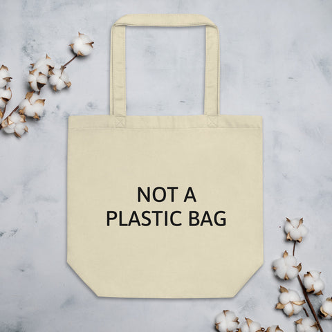 Not A Plastic Bag-Tote Bag in Oatmeal