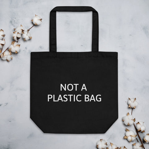 Not A Plastic Bag-Tote Bag in Black